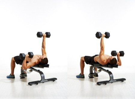 Altnerating Dumbbell Chest Press